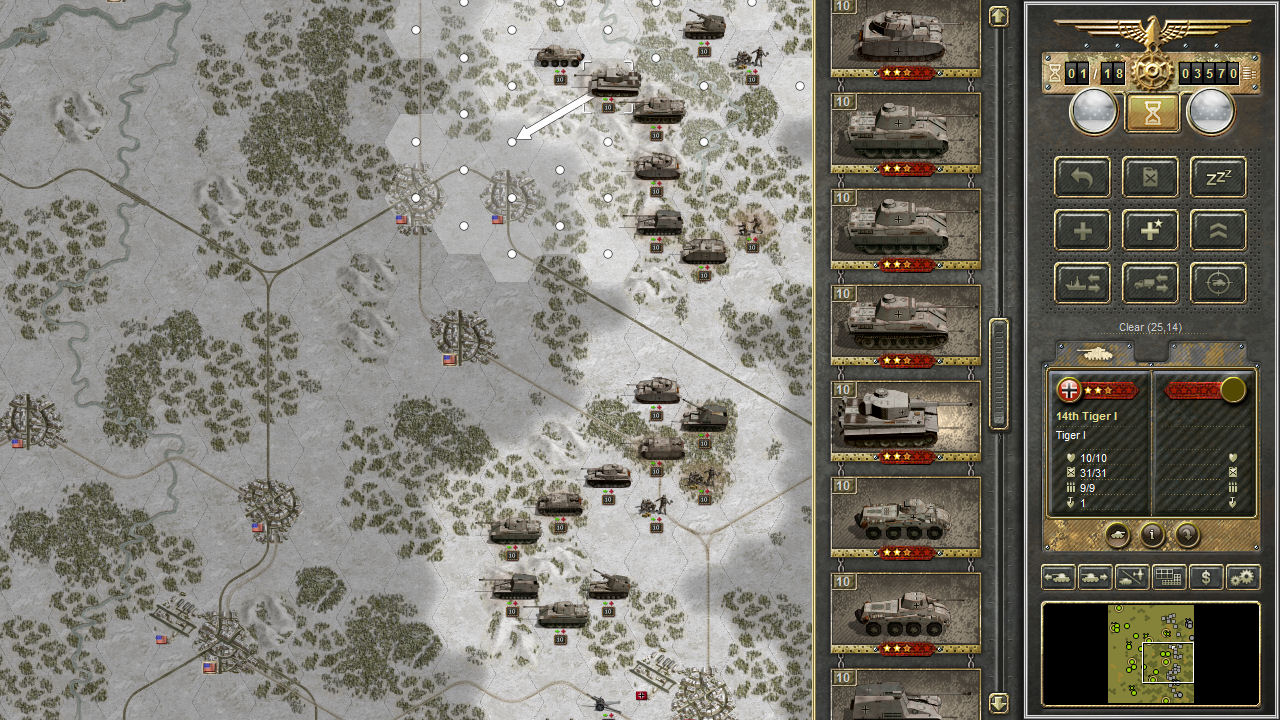 Panzer Corps is a turn-based strategic tank game inspired by Panzer General.